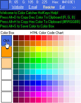 Click to view ColorCatcher 3.6 screenshot